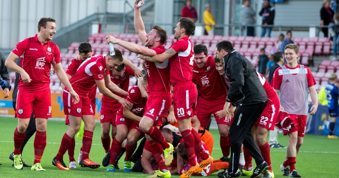 Connah's Quay: Celebrate historic win over Stabaek